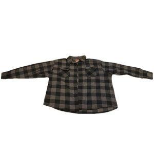 Wrangler Men's Fleece Flannel Shirt sz 3XL